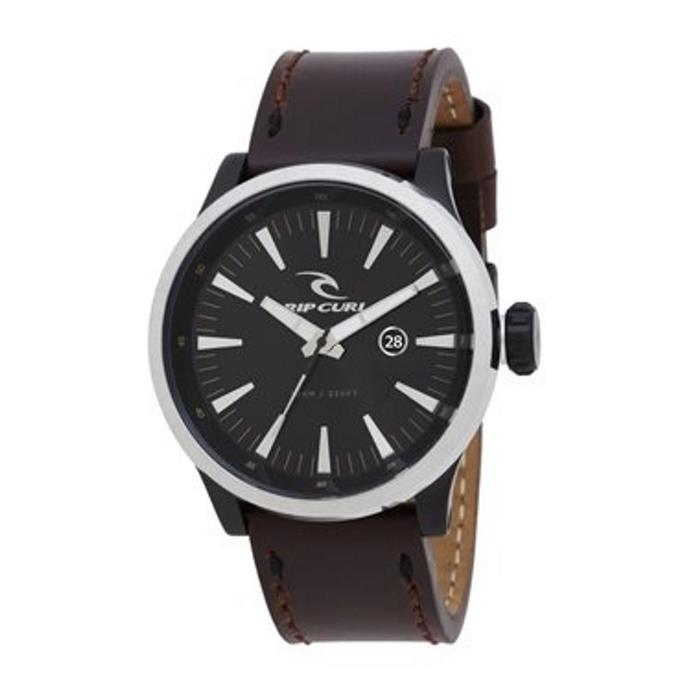 montre-recon-leather-midnight-rip-curl-midnight-brown