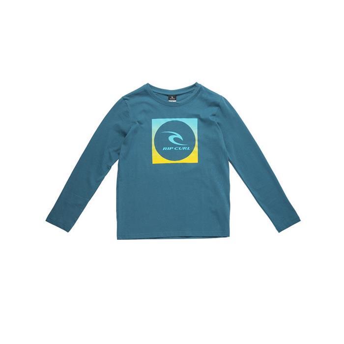 1f1d3b655 T-Shirt Manche Longue Junior SQUARE LOGO LS TEE RIP CURL 3385 INDIAN TEAL |  OZFLIP