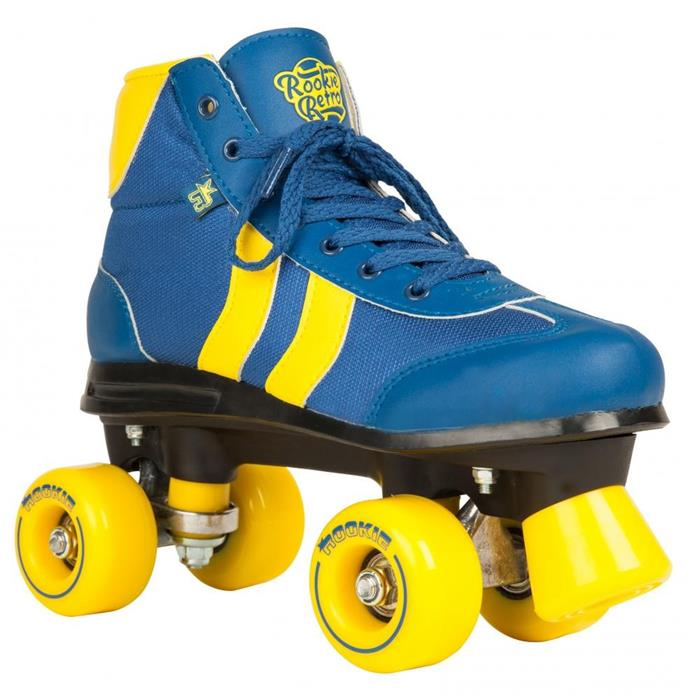 patin-complet-roller-quad-rookie-rollerskates-retro-v2-blue-yellow-roller-quad
