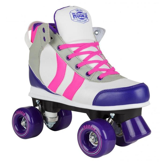 patin-complet-roller-quad-rookie-rollerskates-deluxe-pink-grey-purple