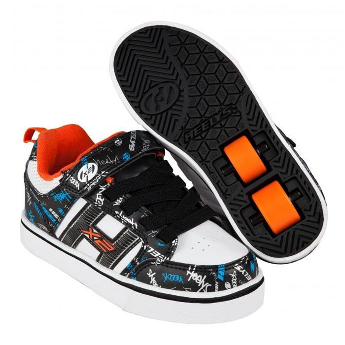 f587933f27068c Chaussures à roulette HEELYS Bolt Plus (770938) Black/White/Orange ...