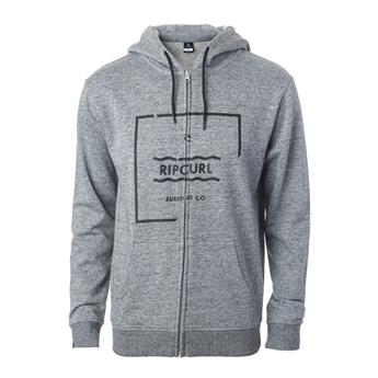 Sweat ZIP à Capuche BROKEN SQUARE  FLEECE RIP CURL 4880 CEMENT MARLE
