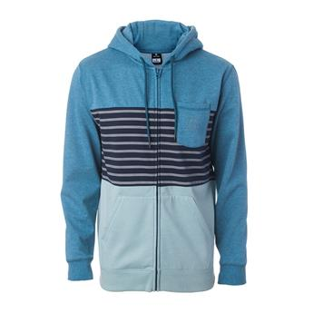 Sweat ZIP à Capuche BLOCKING FLEECE RIP CURL 9451 Indian Teal Marle