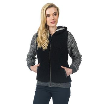 Veste ZIP Capuche Femme KITIMAT POLAR FLEECE RIP CURL 3442 BLACK MARLE