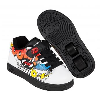 Chaussures à roulettes HEELYS X2 Dual Up White/Black/Multi/Comic