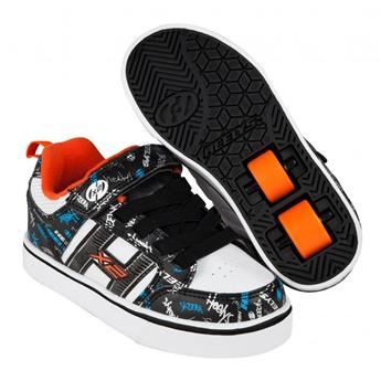 Chaussures à roulettes HEELYS X2 Bolt Plus Black/White/Orange/Cyan  34