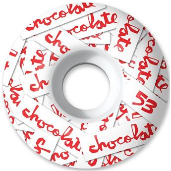 Roue Skateboard CHOCOLATE Wheels  Jeu De 4  All Over Chunk Staple 53mm