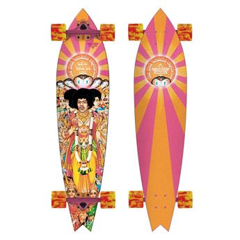 DUSTERS CALIFORNIA Complete Longboard Hendrix Axis Bold Orange Pink 38