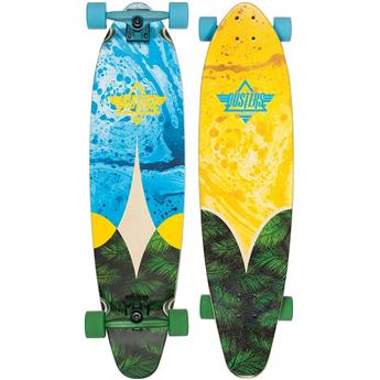DUSTERS CALIFORNIA Complete Longboard Bio 38 Blue Yellow