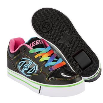 Chaussures à roulettes HEELYS Motion Plus Black/Hot Pink/Rainbow