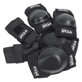 Set de protection complet Roller Junior TSG TECHNICAL SAFETY GEAR  Junior Set Black Noir