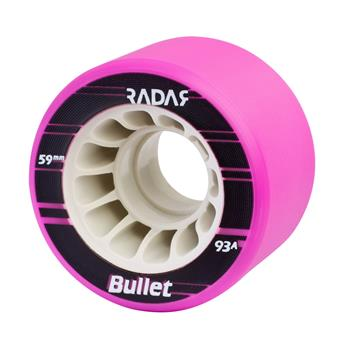 Roues Roller Derby RADAR WHEELS Bullet Purple 93A