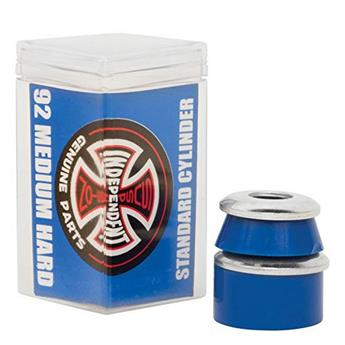 Bushing Skateboard INDEPENDENT  Bushings  Jeu De 4  Cylinder Medium Hard 92a Blu