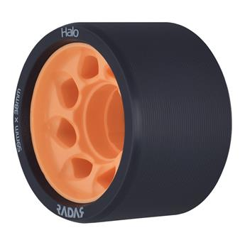 Roues Roller Derby RADAR WHEELS Halo 86A 59mmx38mm Orange Noire et orange