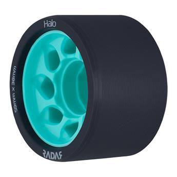 Roues Roller Derby RADAR WHEELS Halo 88A 59mmx38mm Teal Bleu cyan