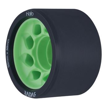 Roues Roller Derby RADAR WHEELS Halo 97A 59mmx38mm Green Black Green