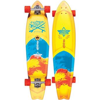 DUSTERS CALIFORNIA Complete Longboard Blotter Marble 37 Yellow Blue