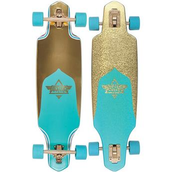 DUSTERS CALIFORNIA Complete Longboard Channel Prism 34 Gold Turquoise