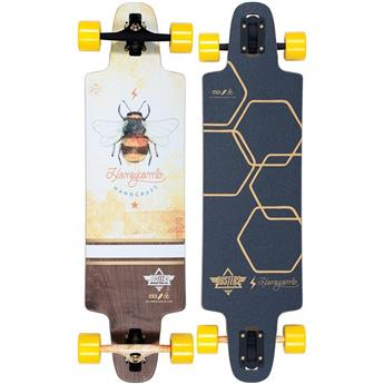 DUSTERS CALIFORNIA Complete Longboard Lite Honeycomb 36 Yellow