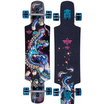 DUSTERS CALIFORNIA Complete Longboard Okto 38.5 Black Blue