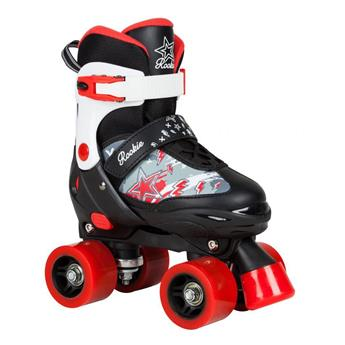 Patin complet Roller Quad  ROOKIE ROLLERSKATES Ajustable Black Red