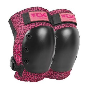 Genouillères TSG TECHNICAL SAFETY GEAR  Derby 2.0 Black Kneepad Leopard Pink
