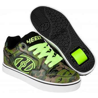 Chaussures à roulette HEELYS Motion Plus (HE100206) Green Camo/Bright Yellow