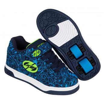 Chaussures à roulette HEELYS Dual Up (770800) Navy/Blue/Print