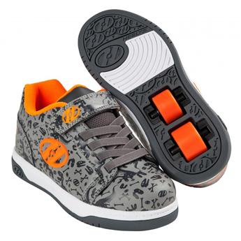 Chaussures à roulette HEELYS Dual Up (HE100020) Grey/Charcoal/Orange