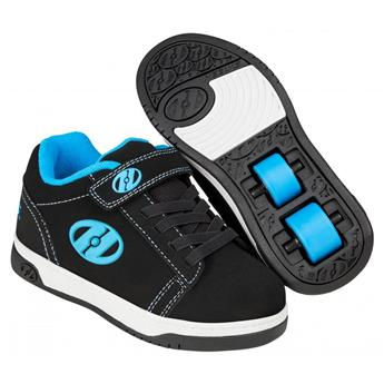 Chaussures à roulette HEELYS Dual Up X2 (HE100143) Black/Cyan/White