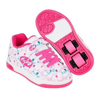 Chaussures à roulette HEELYS Dual Up (770953) White/Pink/Multi