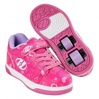 Chaussures à roulette HEELYS Dual Up (HE100022) Hot Pink/White/Hearts