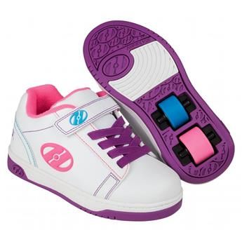 Chaussures à roulette HEELYS Dual Up X2 (HE100147) White/Purple/Neon Multi