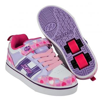 Chaussures à roulette HEELYS Bolt Plus (770942) Light Pink/Lilac/Hearts