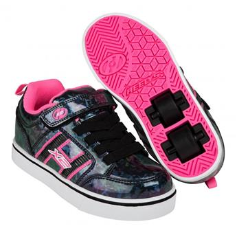 Chaussures à roulette HEELYS Bolt Plus (770945) Black Hologram/Pink