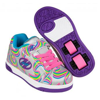 Chaussures à roulette HEELYS Dual Up (770950) Silver/Purple/Rainbow