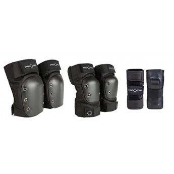 Set de protection PRO-TEC Street Gear Junior 3 Pack Black