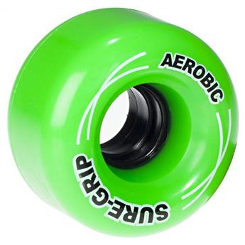 Roues Roller Quad (Pack de 8) SURE GRIP Aerobic Green 62 MM 85a