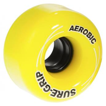 Roues Roller Quad (Pack de 8) SURE GRIP Aerobic Yellow 62 MM 85a