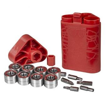 Roulements Roller Quad WICKED BEARINGS Bearing Abec 5 Quad  Red