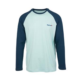 Tee shirt manche longue RIP CURL shore lines 1080 light blue