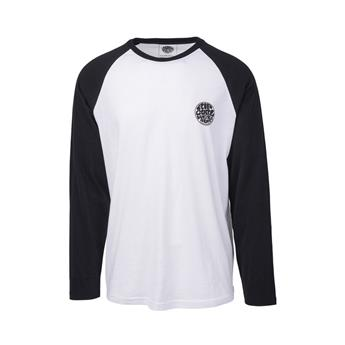 Tee shirt manche longue RIP CURL original raglan 431 black/white