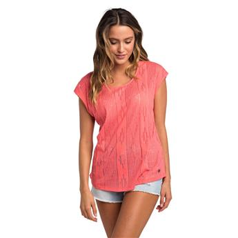 Tee shirt Femme RIP CURL moon tide tee 3899 calypso coral