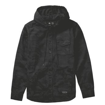 Veste EMERICA GRIME HOODED SHIRT JACKET BLACK CAMO