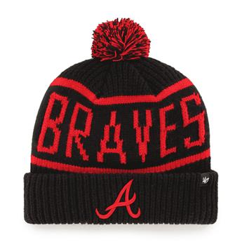 Bonnet 47 BEANIE MLB ATLANTA BRAVES CALGARY CUFF KNIT BLACK