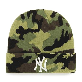 Bonnet 47 BEANIE MLB NEW YORK YANKEES GROVE CUFF KNIT CAMO