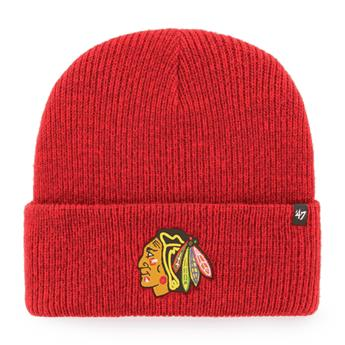 Bonnet 47 BEANIE NHL CHICAGO BLACKHAWKS BRAIN FREEZE CUFF KNIT RED